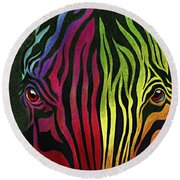 What Are You Looking At Round Beach Towel by Peter Piatt