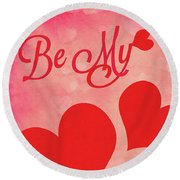 Whole Lotta Love Round Beach Towel by Iryna Goodall