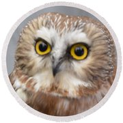 Whoo Me Round Beach Towel