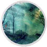 Whorlton Castle Round Beach Towel