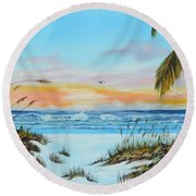 Why Not Siesta Key Round Beach Towel
