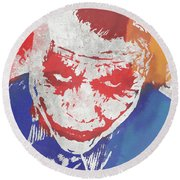 Why So Serious Round Beach Towel by Dan Sproul