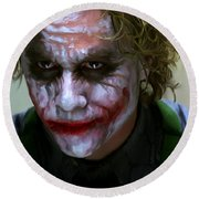 Why So Serious Round Beach Towel by Paul Tagliamonte