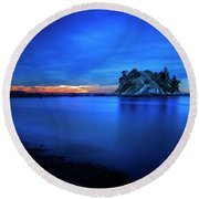 Whytecliff Sunset Round Beach Towel