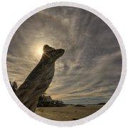 Wickaninnish Beach Sun Halo Round Beach Towel