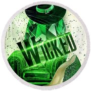 Round Beach Towel featuring the digital art Wicked by Mo T