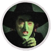 Wicked Witch Of The East Round Beach Towel