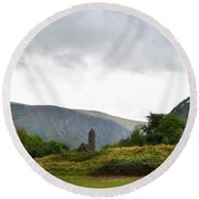 Round Beach Towel featuring the photograph Wicklow Mountains by Terence Davis