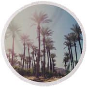 Wide Awake Round Beach Towel
