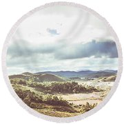 Wide Open Country Australia Round Beach Towel