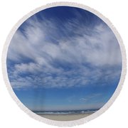 Wide Open Horizon Round Beach Towel by Adria Trail