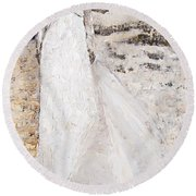 Out On The Wiley Windy Moors Round Beach Towel