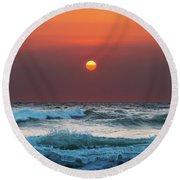 Widemouth Sunset, Cornwall Round Beach Towel