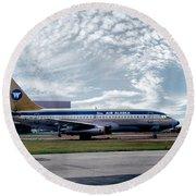 Wien Air Alaska Boeing 737, N4907 Round Beach Towel