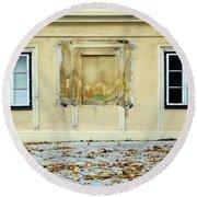 Wiener Wohnhaus Round Beach Towel by Christian Slanec