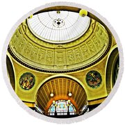 Wiesbaden Casino Round Beach Towel by Sarah Loft
