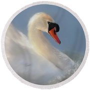 Wild Beauty Close Up Round Beach Towel