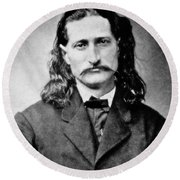 Wild Bill Hickok - American Gunfighter Legend Round Beach Towel
