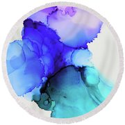 Wild Blue Yonder Round Beach Towel by Tracy Male