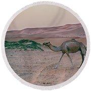 Wild Camel Round Beach Towel