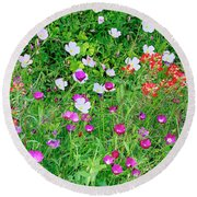 Wild Color Patch Round Beach Towel