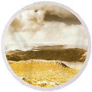 Wild Country Lookout Round Beach Towel
