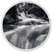 wild creek in Harz, Germany Round Beach Towel