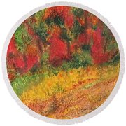 Wild Fire Round Beach Towel