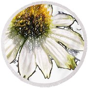 Round Beach Towel featuring the photograph Wild Flower Five  by Heidi Smith