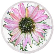 Round Beach Towel featuring the photograph Wild Flower Four by Heidi Smith