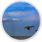 Wild Goose Chase Round Beach Towel