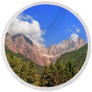 Round Beach Towel featuring the photograph Wild Italy by Roy McPeak