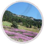Wild Lavender Round Beach Towel
