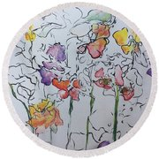 Wild Menagerie  Round Beach Towel by Gail Butters Cohen