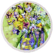Wild Profusion Round Beach Towel