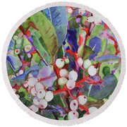Wild Raisons Round Beach Towel