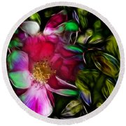 Wild Rose - Colors Round Beach Towel by Stuart Turnbull