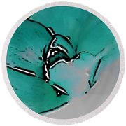 Wild Rose Abstract 2 Round Beach Towel