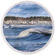 Wild Seas Round Beach Towel by Tricia Marchlik