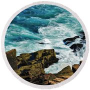 Wild Shore Round Beach Towel