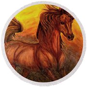 Wild Spirit Round Beach Towel