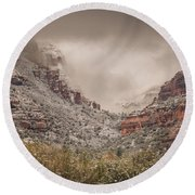 Boynton Canyon Arizona Round Beach Towel