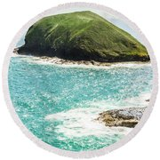 Wild Western Waters Round Beach Towel