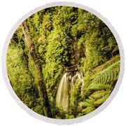 Wilderness Falls Round Beach Towel