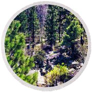 Round Beach Towel featuring the photograph Wilderness by Nancy Marie Ricketts
