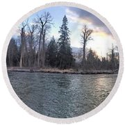 Round Beach Towel featuring the photograph Wilderness by Victor K