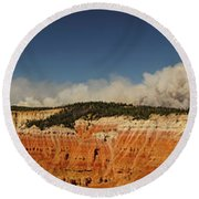 Wildfire Cedar Breaks National Monument Utah Round Beach Towel