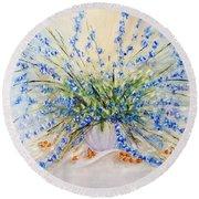 Wildflower Celebration Round Beach Towel by Loretta Luglio