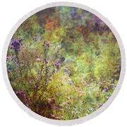 Wildflower Garden Impression 4464 Idp_2 Round Beach Towel