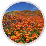 Wildflower Jackpot Round Beach Towel